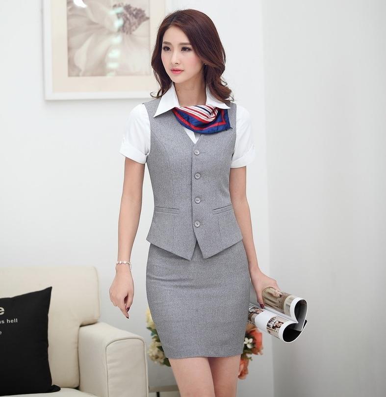 Đồng phục gile nữ công sở 01