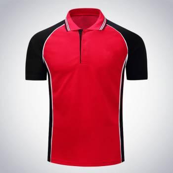 Áo phông đỏ phối đen