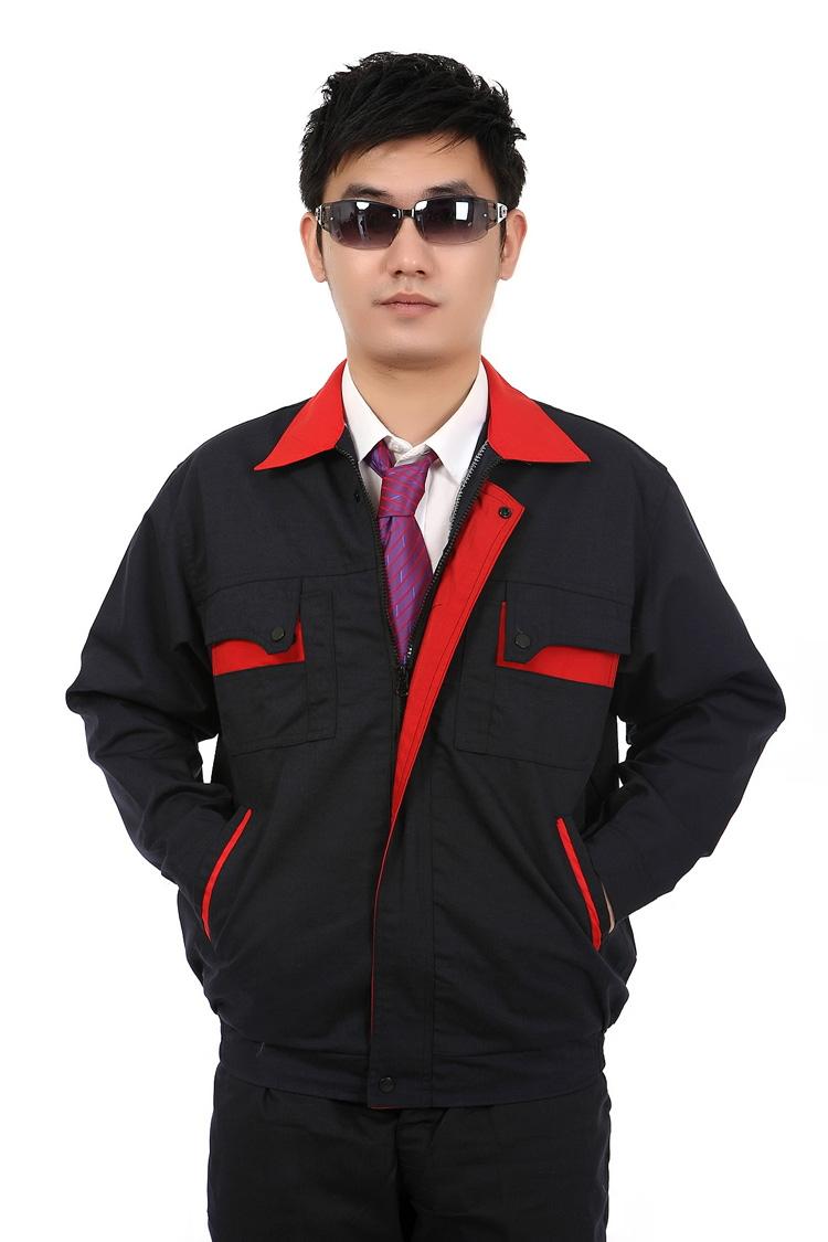 Hình ảnh mẫu đồng phục bảo hộ lao động xanh đen phối cam