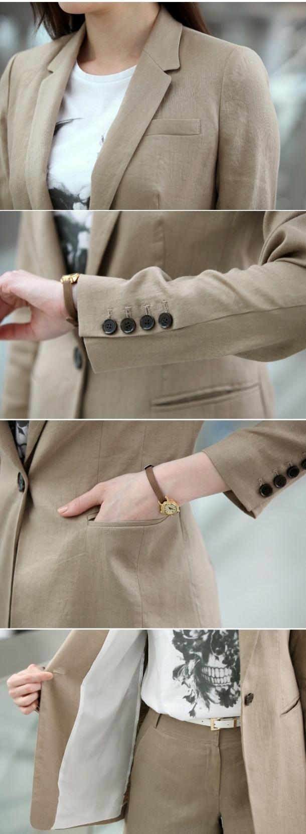 Chi tiết của mẫu đồng phục vest nữ 5