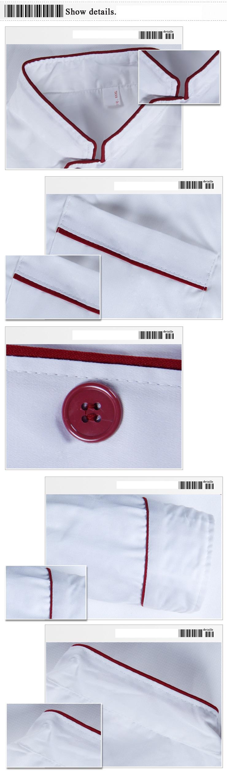 Các chi tiết của mẫu đồng phục bếp Hà Nội