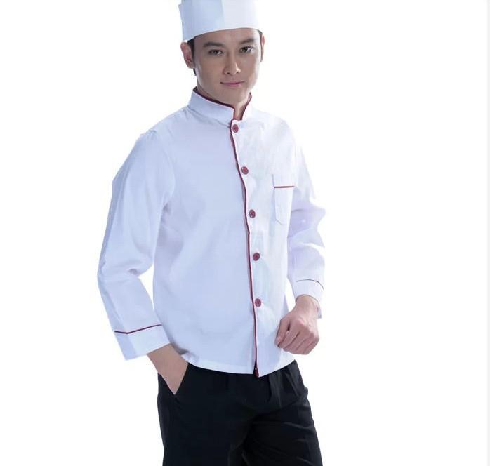 Thiết kế áo bếp 1 hàng khuy