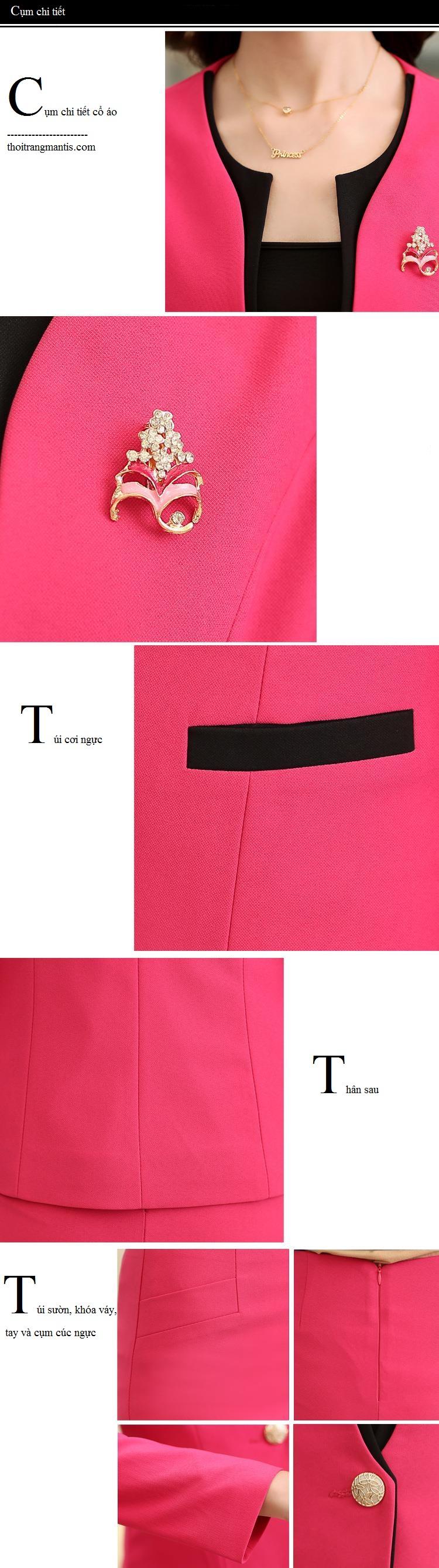 Cụm chi tiết vest đồng phục lễ tân 9
