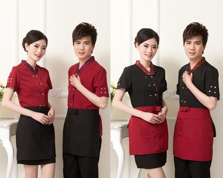 Mẫu đồng phục nhân viên nhà hàng - Công ty may đồng phục Mantis