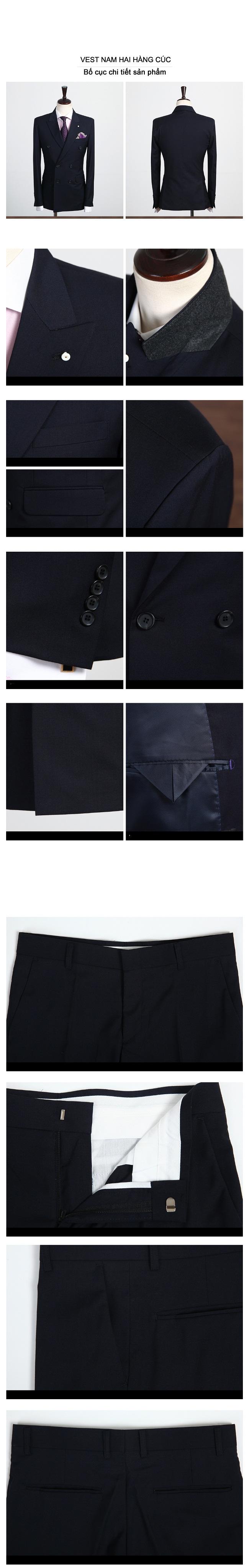 áo vest nam 2 hàng cúc 1