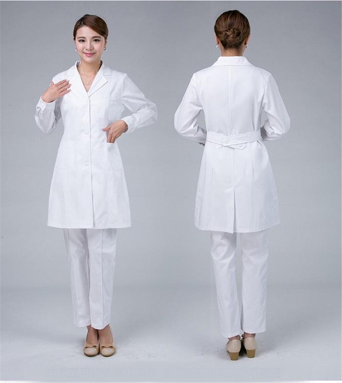 Mẫu áo bác sĩ nữ đẹp