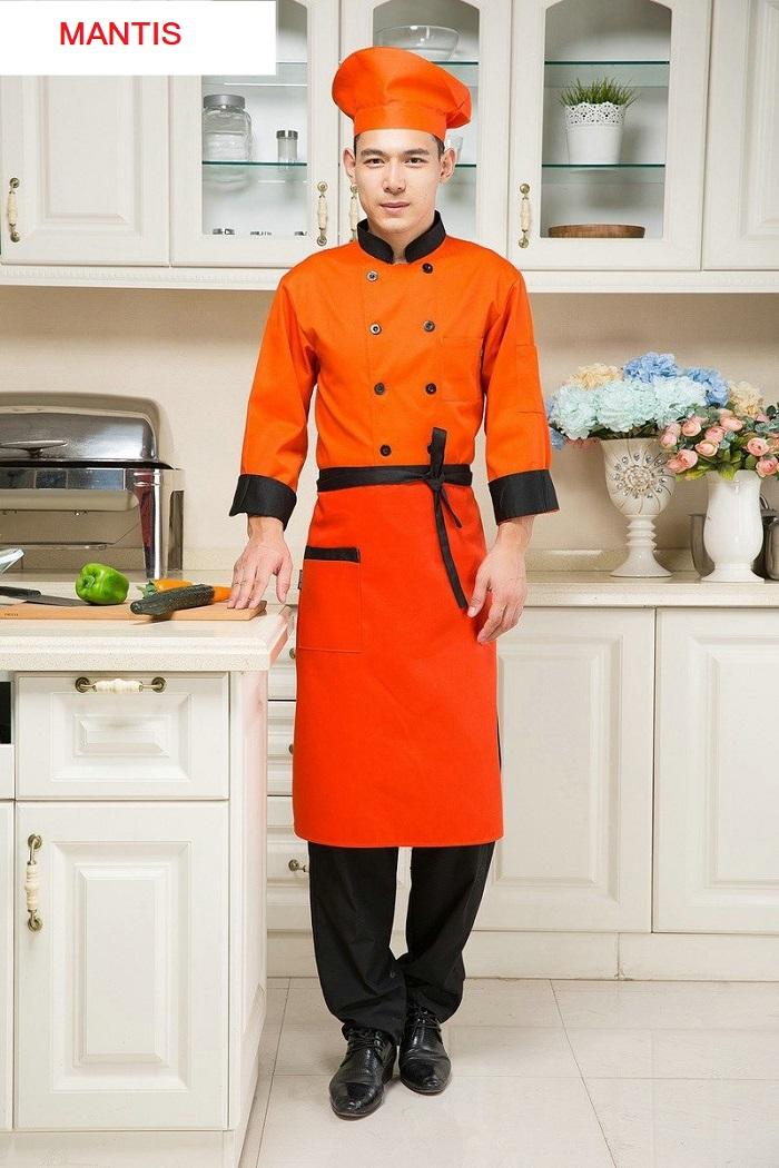 Mẫu áo bếp trưởng nam nữ - Đồng phục Mantis