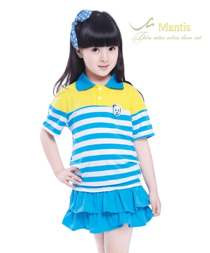 Áo phông đồng phục học sinh tiểu học đẹp