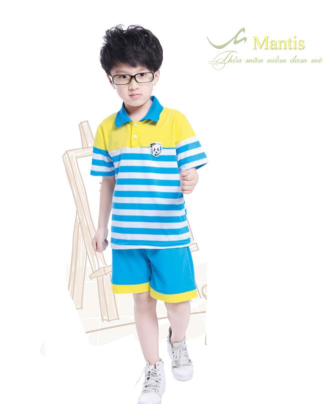 Mẫu áo phông đồng phục học sinh tiểu học - Đồng phục Mantis