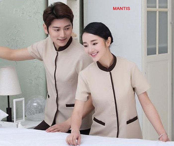 Thiết kế đồng phục buồng phòng phù hợp với cả nhân viên nam và nữ