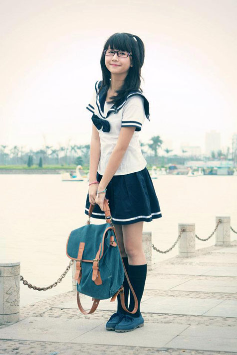 Mẫu thiết kế này có thể được coi là mẫu đồng phục học sinh kinh điển của Nhật