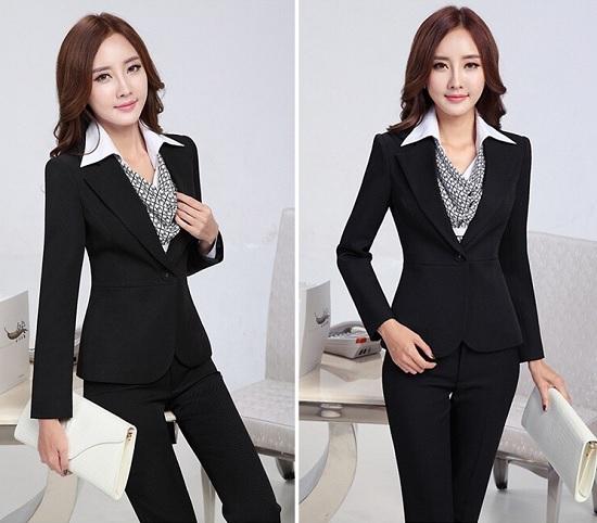đồng phục vest nữ đen 0210