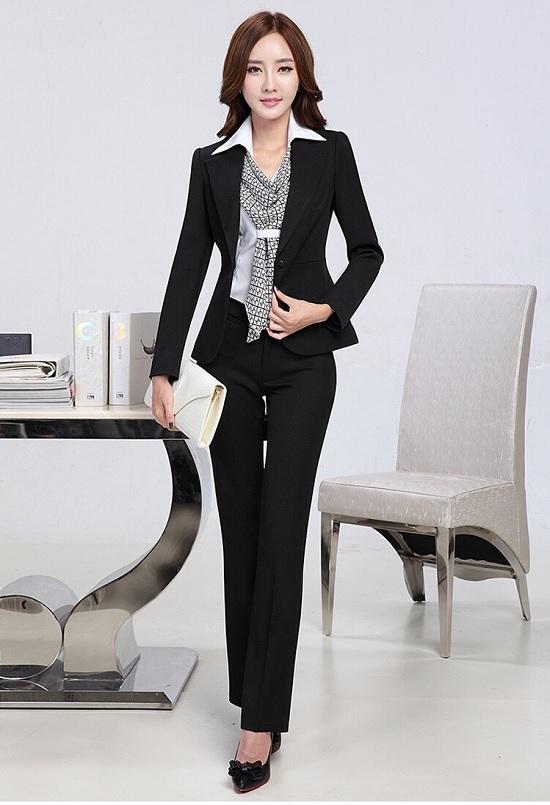mẫu vest nữ đen đẹp 0211