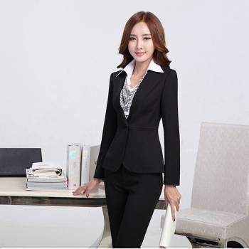 Đồng phục vest nữ 02 đen đẹp, giẻ