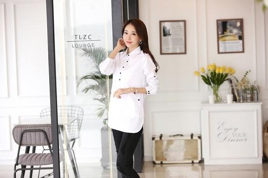 Đồng phục sơ mi nữ dáng dài, thời trang, cá tính phù hợp cho văn phòng, công sở, dạo phố4