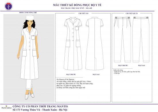 Mẫu thiết kế đồng phục bác sĩ nữ hè