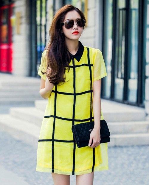 Cách mặc váy suông đẹp cho người chân to