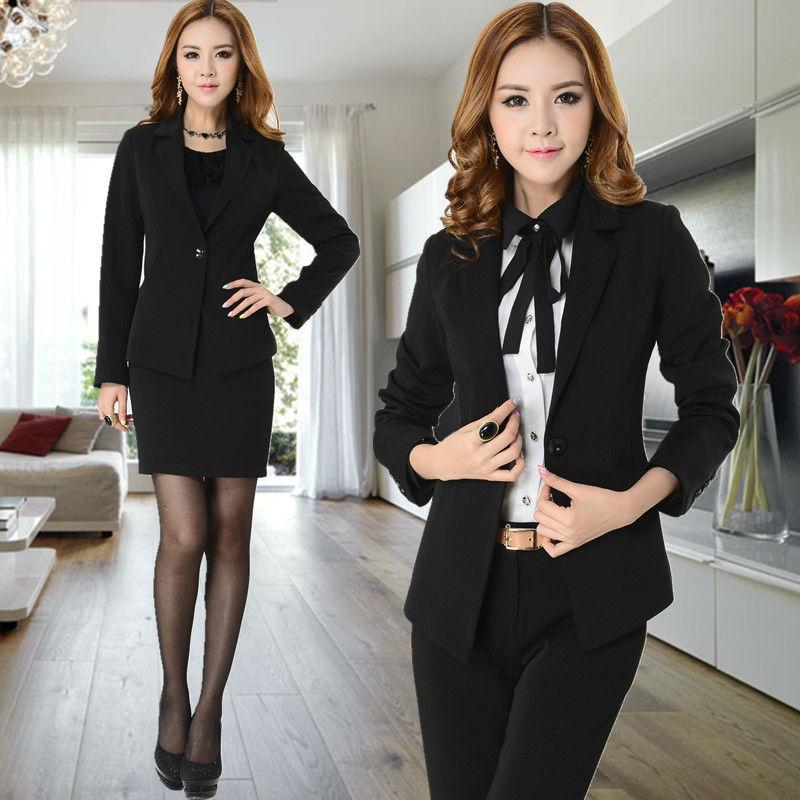 Đồng phục vest nữ 8 được thiết kế 1 khuy vạt nhọn, dài
