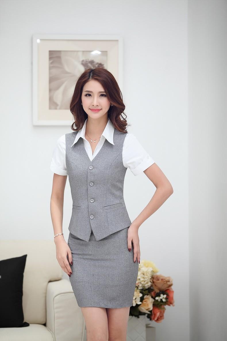 Đồng phục gile nữ công sở 012