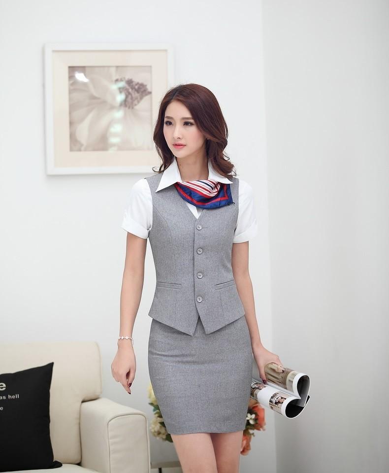 đồng phục gile nữ công sở 011