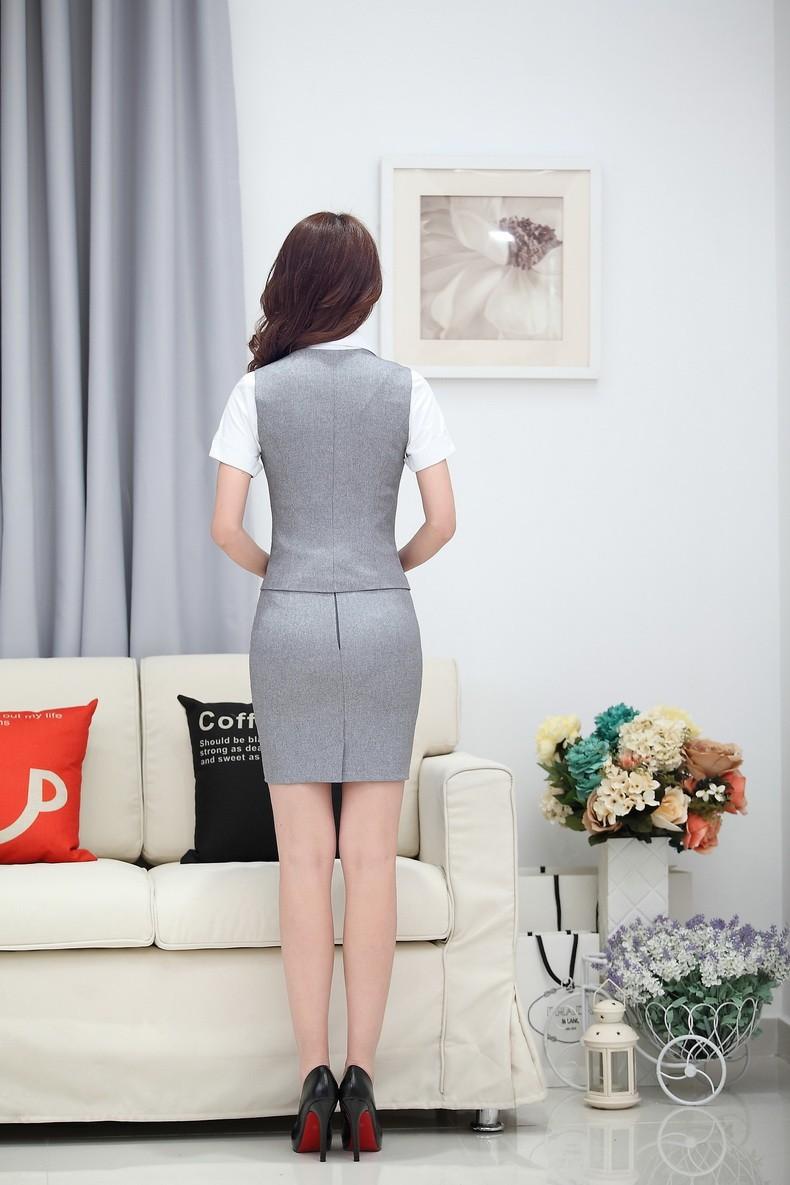 đồng phục gile nữ công sở 013