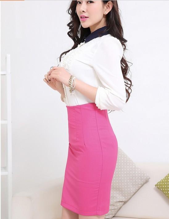 Hình ảnh sườn của sản phẩm chân váy hồng cạp liền.