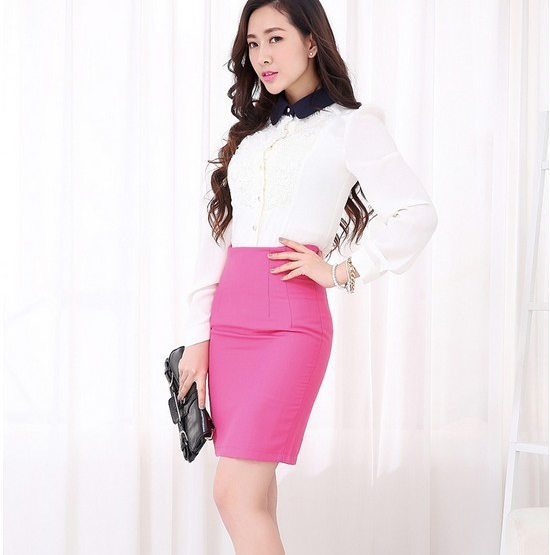 Hình ảnh đại diện của chân váy hồng cạp liền.