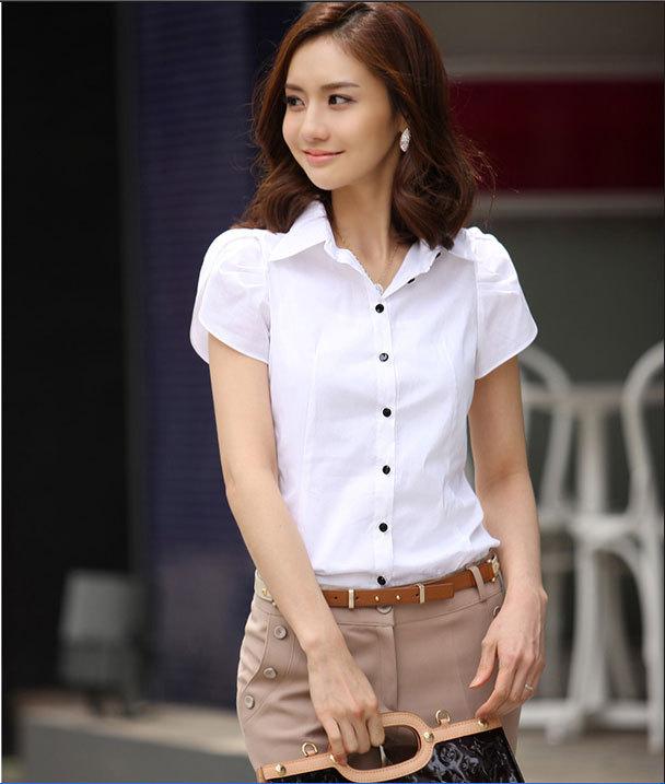 mẫu đồng phục sơ mi nữ 16 trắng đẹp 1