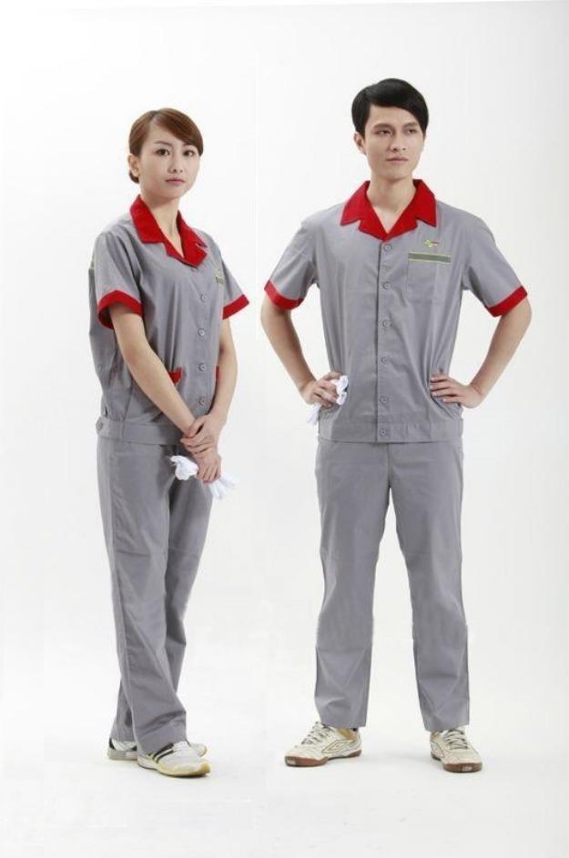 Mẫu áo đồng phục bảo hộ lao động mùa hè