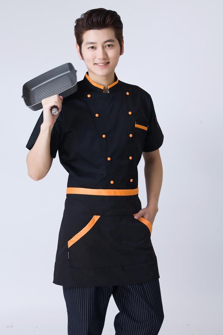 Thiết kế áo đầu bếp phong cách cổ điển