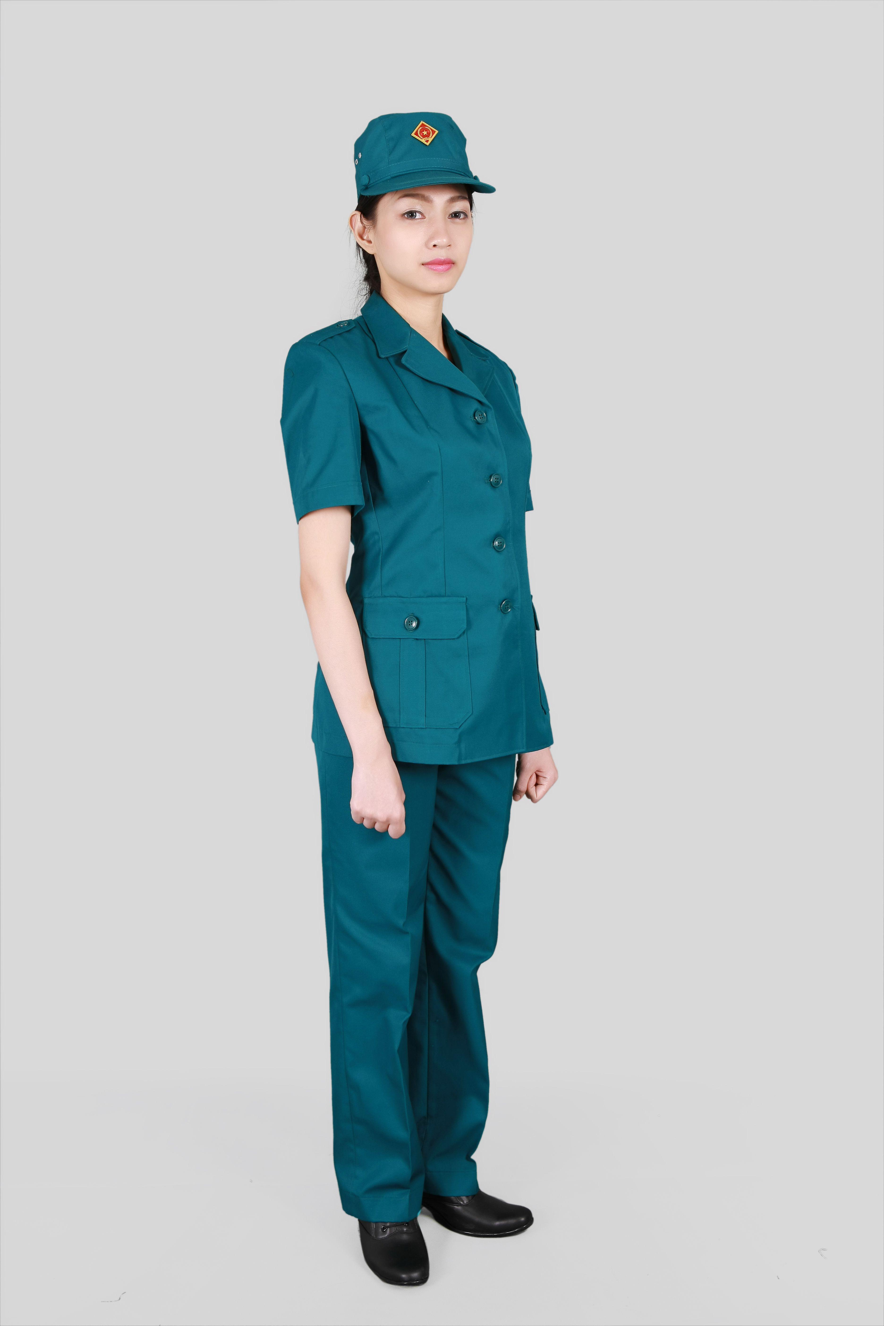 Quần áo dân quân tự vệ nữ đẹp - Đồng phục bảo vệ Mantis