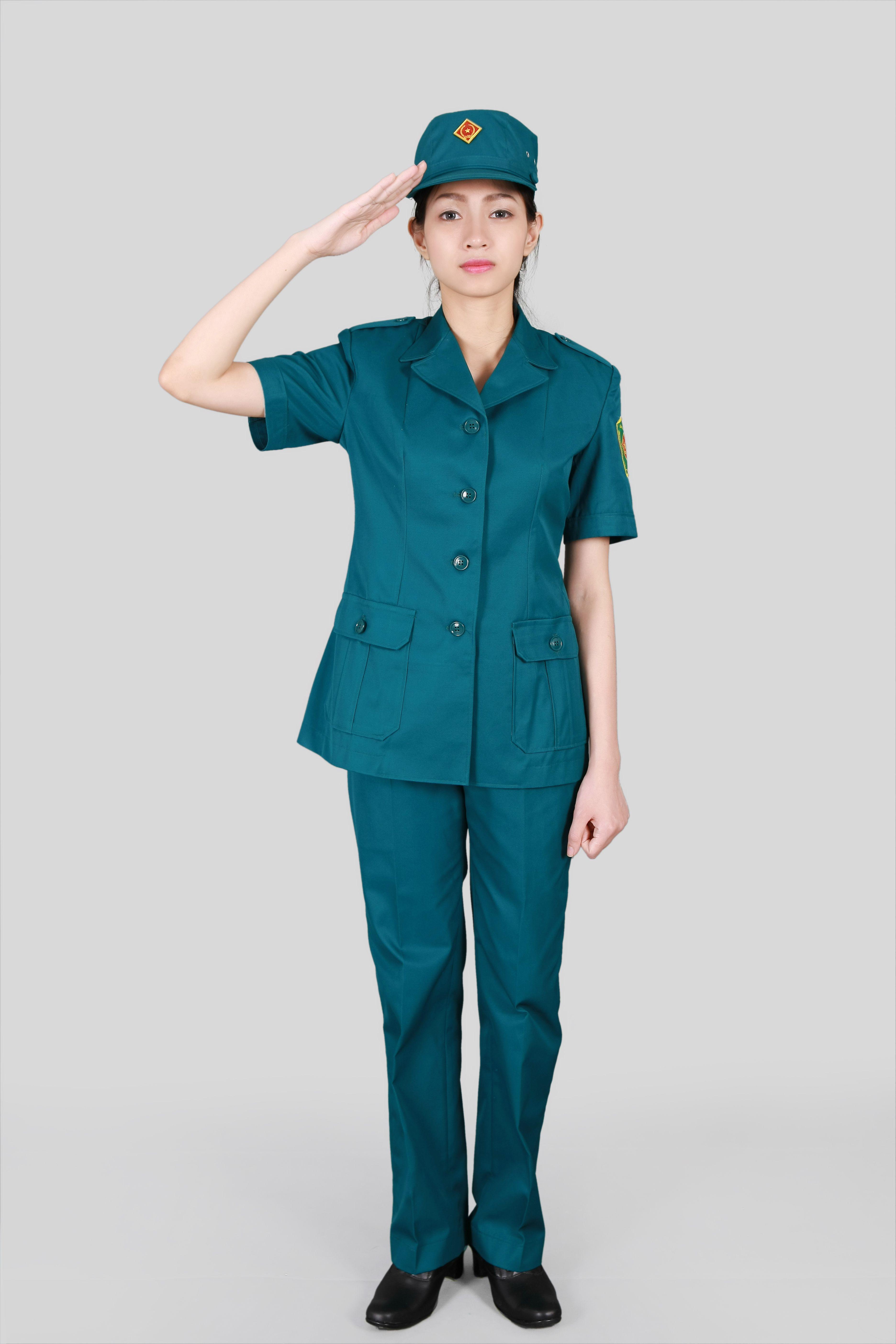 Mẫu quần áo dân quân tự vệ nữ đẹp - Đồng phục Mantis