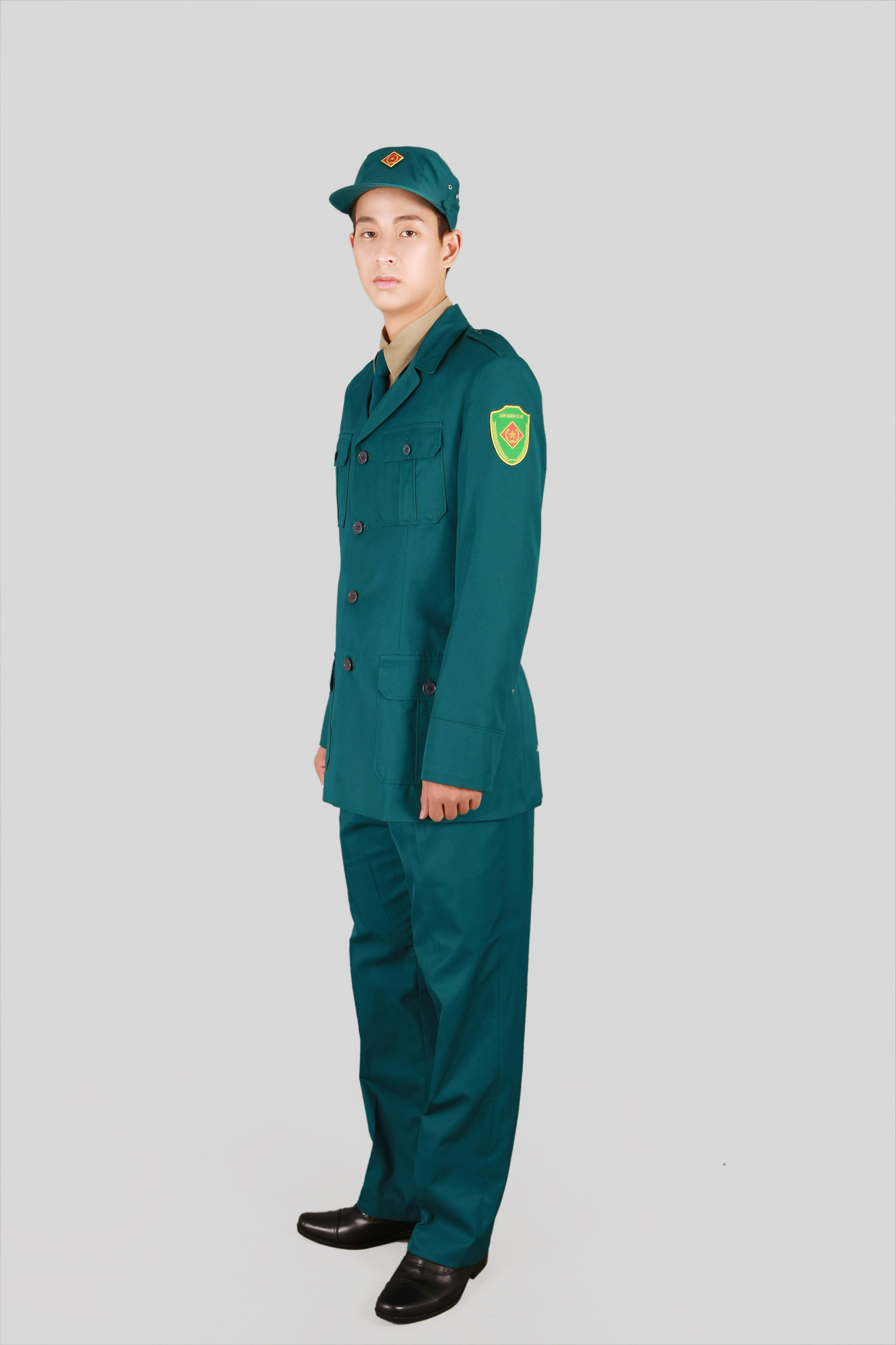 May quần áo đồng phục dân quân tự vệ nam