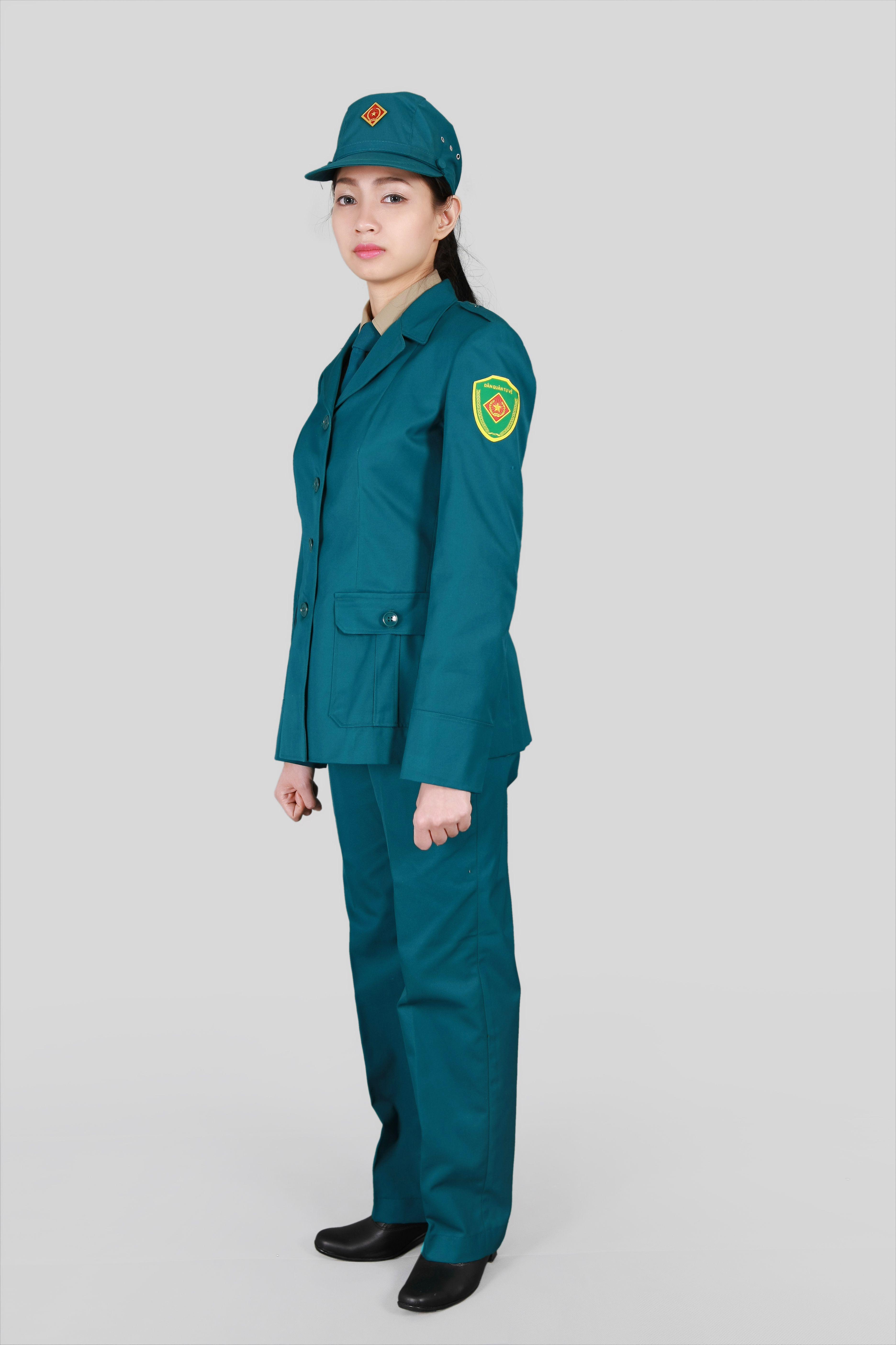 Mẫu đồng phục dân quân tự vệ nữ đẹp