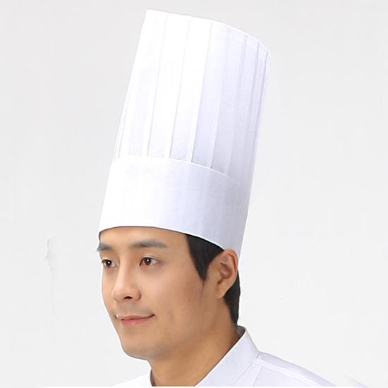 Mũ đầu bếp giấy loại cao cho nhà hàng