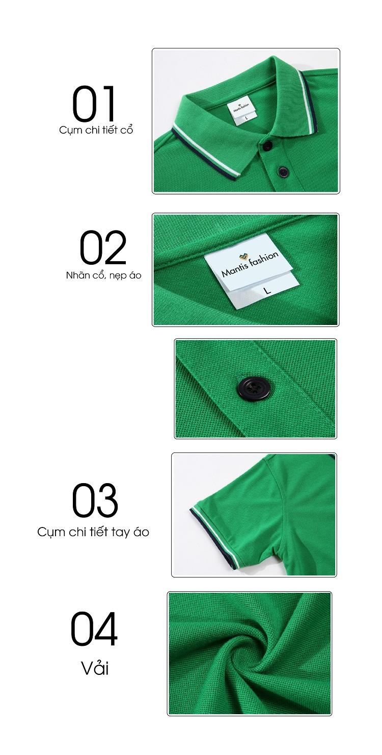 đồng phuc áo phông cổ trụ đẹp 014 2017 - Thời trang Mantis