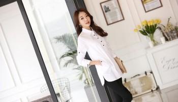 Chào thu với những mẫu áo sơ mi trắng tinh khôi cho nàng công sở