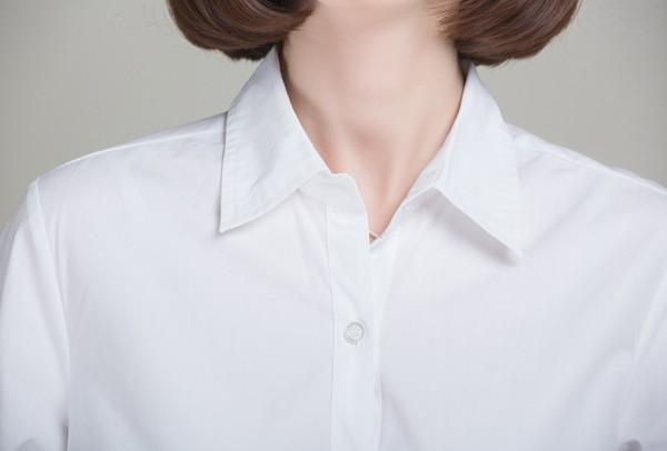 mẫu áo sơmi trắng công sở phong cách oversized. Ảnh 4