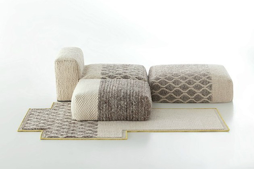 Sofa làm từ len tạo cảm giác mềm mại, và chống cháy.