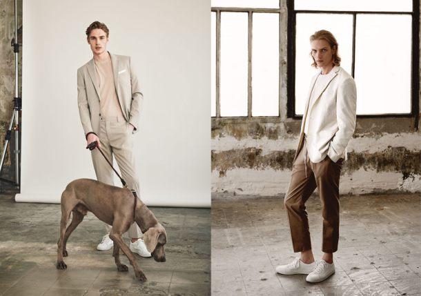 phối suits và t-shirt lại trở thành cách phối quen thuộc của nhiều nhà thiết kế lẫn sao nam