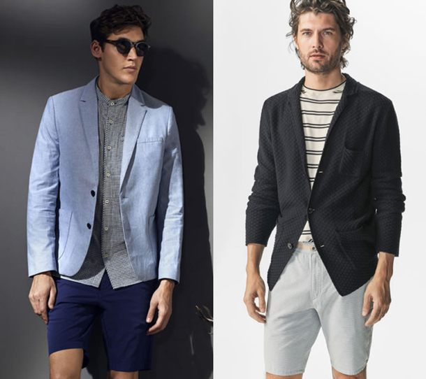 Với bộ đôi blazer và short, lưu ý quan trọng nhất chính là độ dài của quần. Mọi thứ bạn cần là chọn một chiếc quần có độ dài vừa chấm gối và có độ ôm vừa phải để không ảnh hưởng đến độ nam tính cũng như tập trung quá nhiều sự chú ý vào đôi chân.