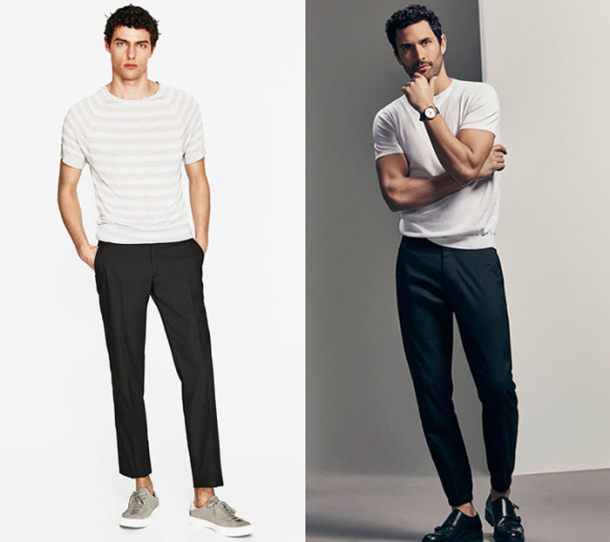 Chiếc quần có độ dài phù hợp là đủ chạm mắt cá chân và không quá ôm.