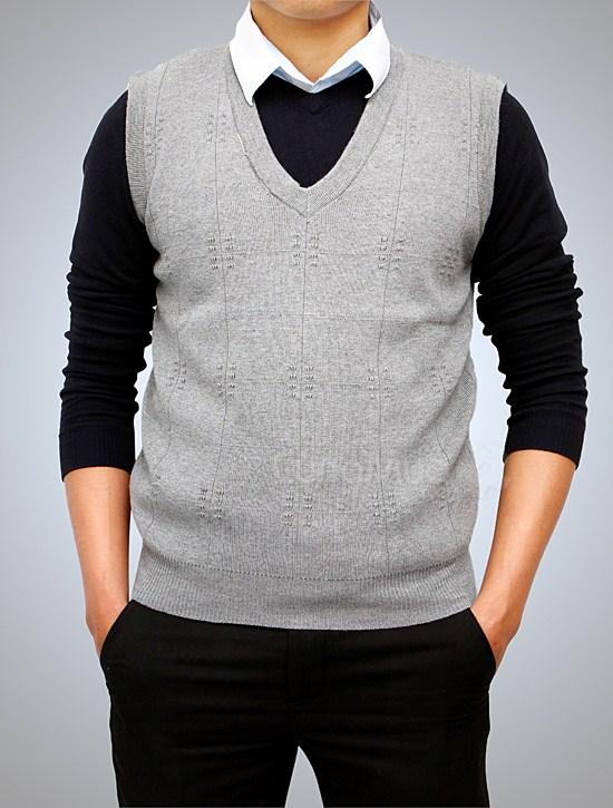 1001 mẫu áo gile len nam đẹp cho thu đông 2017.13