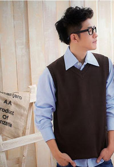 1001 mẫu áo gile len nam đẹp cho thu đông 2017.1