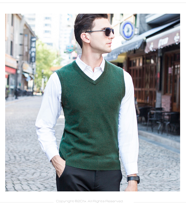 1001 mẫu áo gile len nam đẹp cho thu đông 2017.3