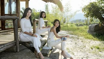 Ba mỹ nhân hoa hậu mỏng manh trong tà áo dài
