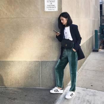 Cô nàng Fashionista Việt Hà Mỹ Ngân là một trong những người đầu tiên cập nhật xu hướng thời thượng này (Ảnh: @louiis.ha Instagram)