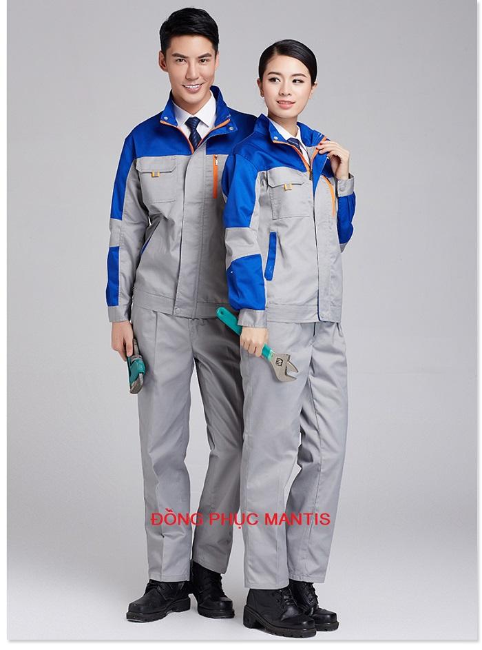 Áo khoác công nhân cơ khí nam, nữ