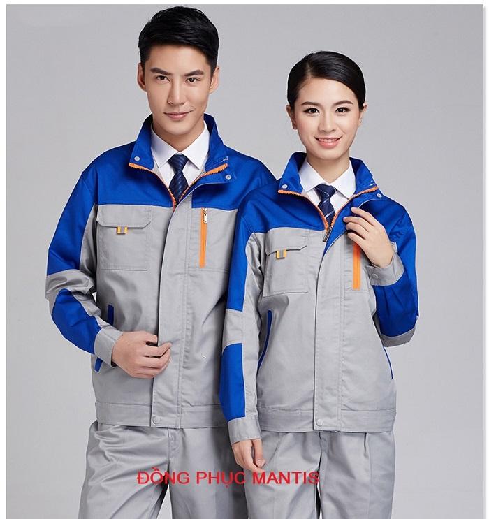 Đồng phục áo khoác công nhân cơ khí đẹp, giá rẻ