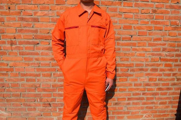 Đồng phục bảo hộ cho công nhân màu cam rẻ